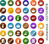 color back flat icon set  ... | Shutterstock .eps vector #1227419878