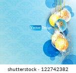eps10 vector blue christmas... | Shutterstock .eps vector #122742382