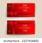 vector set of luxury red gift... | Shutterstock .eps vector #1227426802
