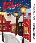 winter landscape.christmas... | Shutterstock .eps vector #1227427012