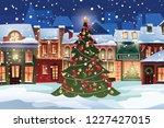 winter landscape.christmas... | Shutterstock .eps vector #1227427015