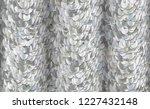 vector seamless silver texture... | Shutterstock .eps vector #1227432148