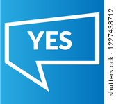 yes sign label.yes speech... | Shutterstock .eps vector #1227438712