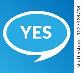 yes sign label.yes speech... | Shutterstock .eps vector #1227438748