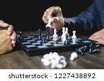 businessman and businesswoman... | Shutterstock . vector #1227438892