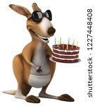 fun kangaroo   3d illustration | Shutterstock . vector #1227448408