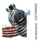 fun zebra   3d illustration | Shutterstock . vector #1227448432