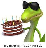 fun lizard   3d illustration | Shutterstock . vector #1227448522