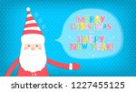 christmas background with santa ... | Shutterstock .eps vector #1227455125
