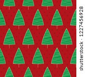this is a red christmas and new ... | Shutterstock .eps vector #1227456928