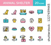 animal shelter logo design... | Shutterstock .eps vector #1227459445