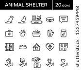 vector animal shelter logo... | Shutterstock .eps vector #1227459448