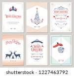 elegant vertical winter... | Shutterstock .eps vector #1227463792