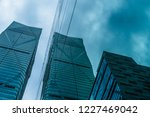 low angle view of skyscrapers... | Shutterstock . vector #1227469042