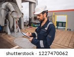 marine deck officer or chief... | Shutterstock . vector #1227470062
