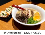 japanese style noodle chashu... | Shutterstock . vector #1227472192