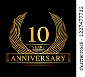 10 years design template. 10th... | Shutterstock .eps vector #1227477712