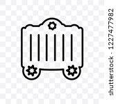 circus cage vector linear icon... | Shutterstock .eps vector #1227477982
