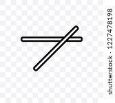 chopsticks vector linear icon...   Shutterstock .eps vector #1227478198