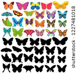 set of beautiful multicolored... | Shutterstock .eps vector #1227481018