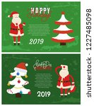 happy holidays greeting card on ...   Shutterstock .eps vector #1227485098