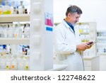 senior doctor scientist using... | Shutterstock . vector #122748622