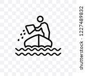sinking vector linear icon...   Shutterstock .eps vector #1227489832