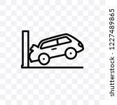 parking crash vector linear... | Shutterstock .eps vector #1227489865