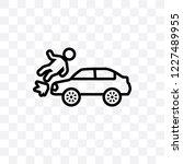 frontal crash vector linear... | Shutterstock .eps vector #1227489955