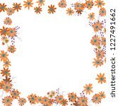floral wreath. vector square... | Shutterstock .eps vector #1227491662