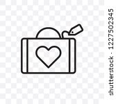 wedding luggage vector linear...   Shutterstock .eps vector #1227502345