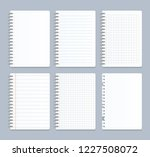 realistic 3d detailed notebook... | Shutterstock .eps vector #1227508072
