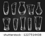 vase set. various forms of... | Shutterstock .eps vector #1227514438