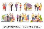 family collection. happy family ... | Shutterstock .eps vector #1227514462
