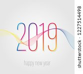 2019 new year celebration card... | Shutterstock .eps vector #1227514498