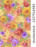 beautiful  floral pattern with... | Shutterstock . vector #1227516985