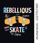 skate board vector... | Shutterstock .eps vector #1227517285