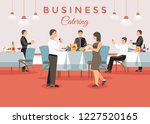 business catering concept.... | Shutterstock .eps vector #1227520165
