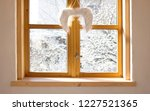 winter snow covered trees seen... | Shutterstock . vector #1227521365