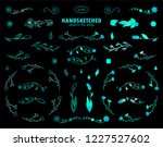 vector calligraphic elements... | Shutterstock .eps vector #1227527602
