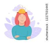 inside woman s head concept.... | Shutterstock .eps vector #1227531445