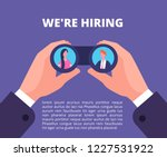 we are hiring concept.... | Shutterstock .eps vector #1227531922