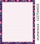 vector printing paper note ...   Shutterstock .eps vector #1227534025