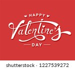 happy valentine's day hand... | Shutterstock .eps vector #1227539272
