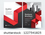 front and back cover of a...   Shutterstock .eps vector #1227541825