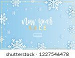 winter snowflakes background... | Shutterstock .eps vector #1227546478