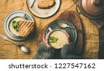 autumn  winter home dinner.... | Shutterstock . vector #1227547162