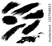 vector set of hand drawn ink...   Shutterstock .eps vector #1227548815