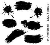 vector set of hand drawn ink...   Shutterstock .eps vector #1227548818