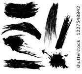 vector set of hand drawn ink... | Shutterstock .eps vector #1227548842